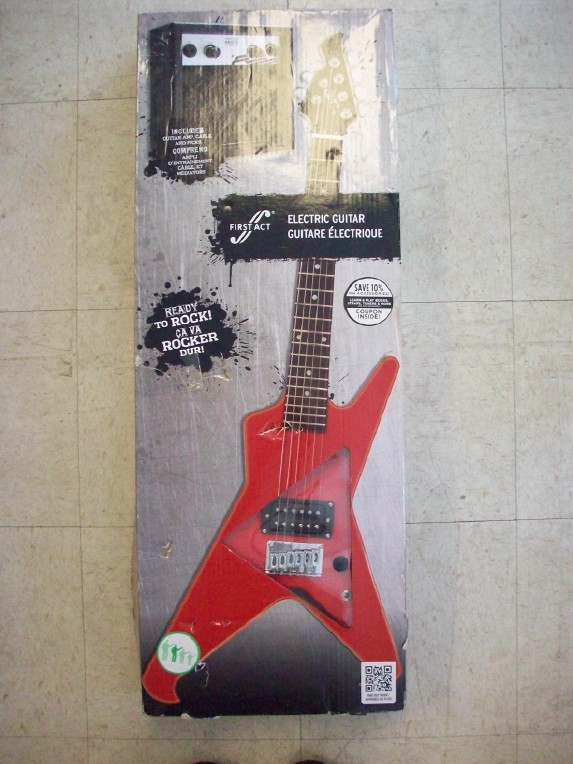 first act rad x electric guitar with amp bundle red. Black Bedroom Furniture Sets. Home Design Ideas
